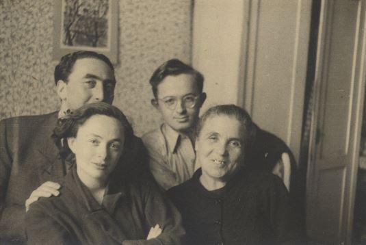 Family in DP camp in 1950